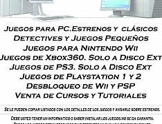 MULTI-JUEGOS.Para todas las plataformas con pirateria y PC y WIFI Grat