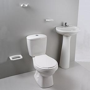 Juego de bano marca corona (taza, tanque y lavamanos con pedestal)