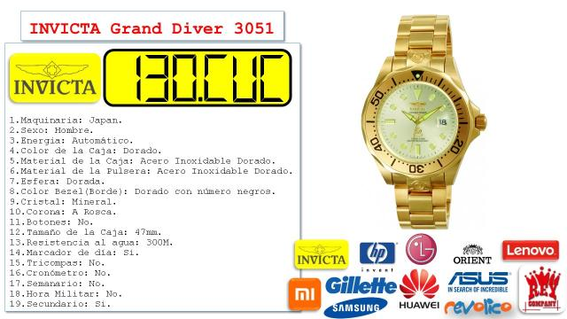ORIGINAL INVICTA SPECIALTY COLLECTION 29482| PARA HOMBRE QUARTZ |56843980 r1