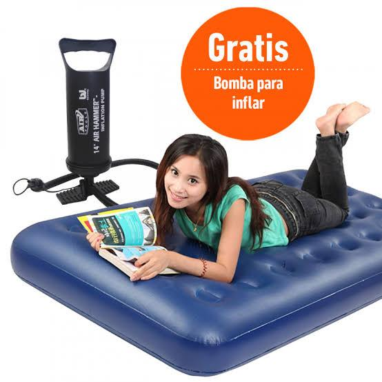 Colchón inflable personal con bomba. 54015790